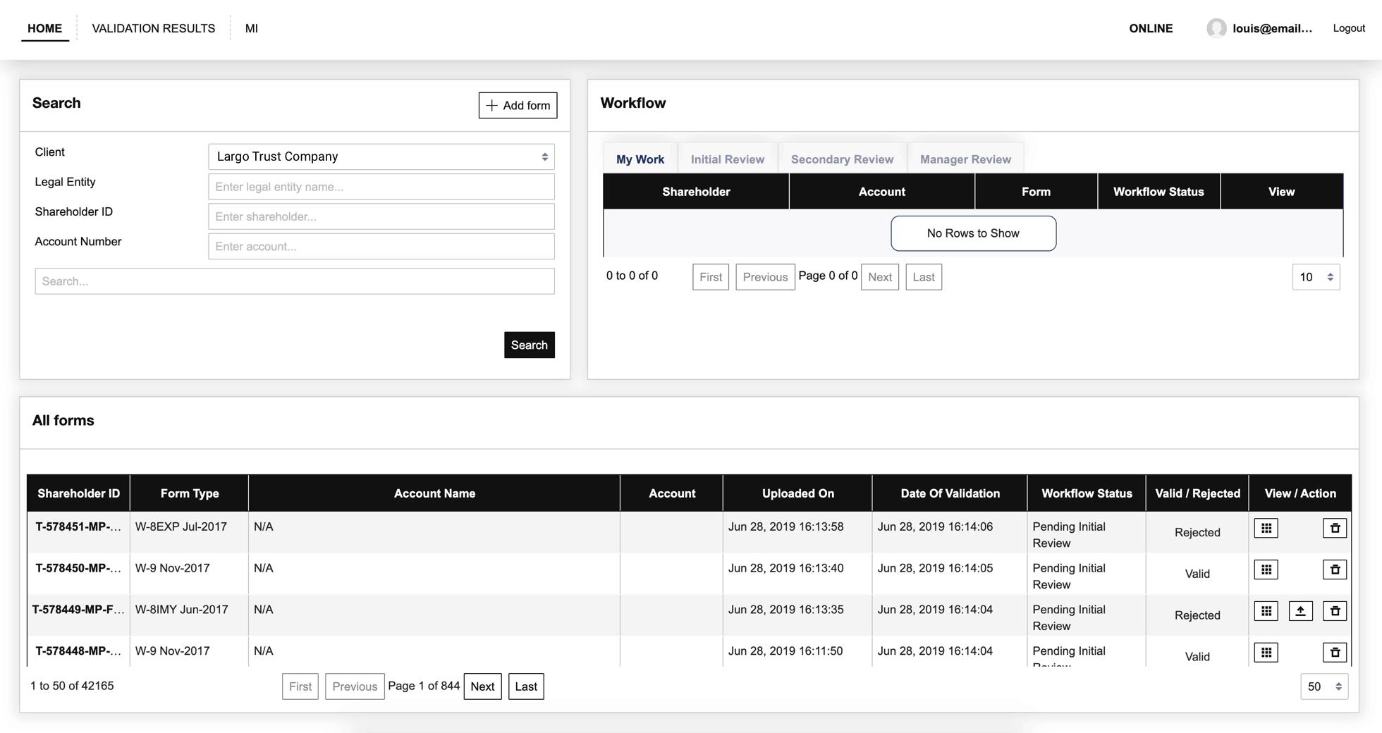 Validator home redacted